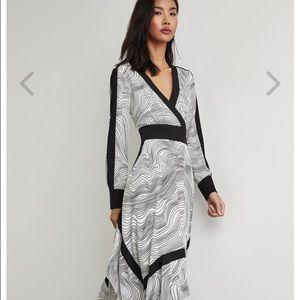BCBG Lightwave Stripe Handkerchief Dress